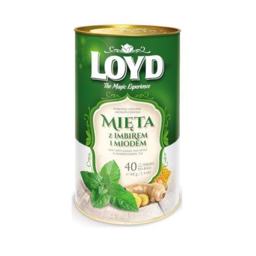 Loyd 40x1,7g mięta z imbirem i miodem herbata ziołowa piramidki marki Mokate