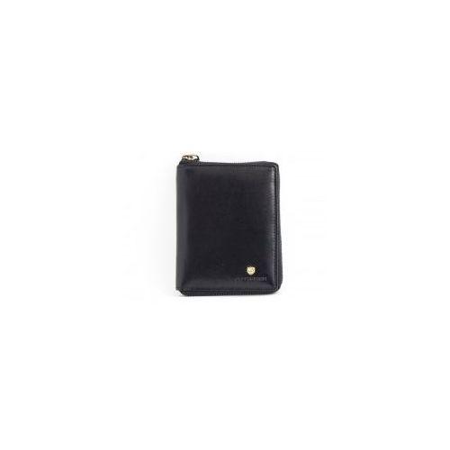 217632413dab7 Czarny męski portfel skórzany Peterson 340-2-1-1