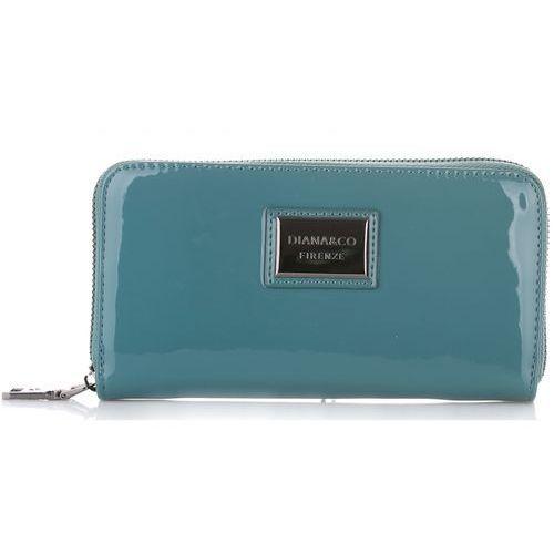 Diana&co Elegancki portfel damski firenze lakier niebieski (kolory)