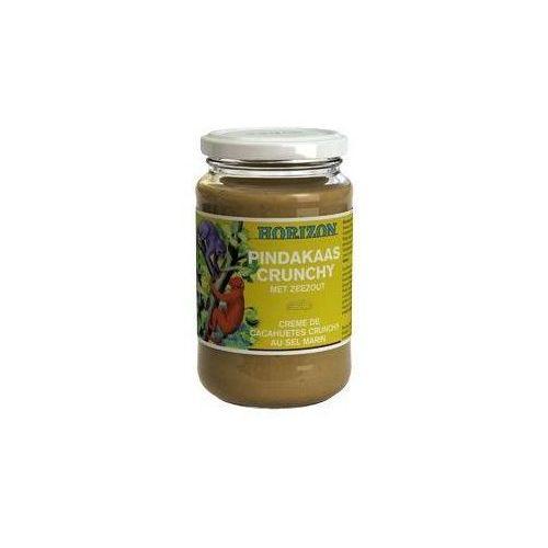 Krem z orzeszków ziemnych crunchy z solą morską bio 350 g - horizon marki Horizon (syropy, kremy orzechowe)