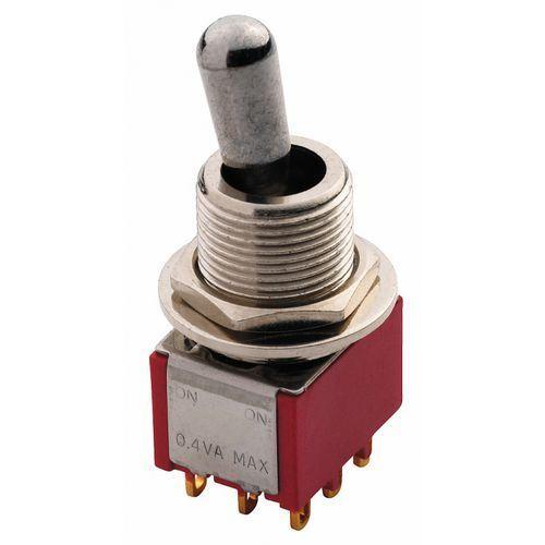 maxi toggle switch chromowany on - on 3pdt przełącznik gitarowy marki Mec