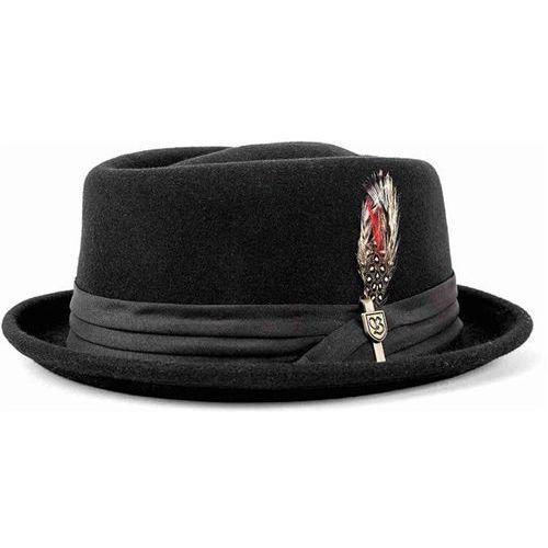 kapelusz BRIXTON - Stout Pork Pie Black/Black (0135) rozmiar: M