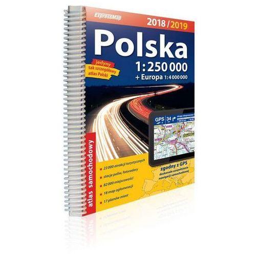 Polska atlas samochodowy 1:250 000 2018/2019 - Praca zbiorowa, oprawa miękka