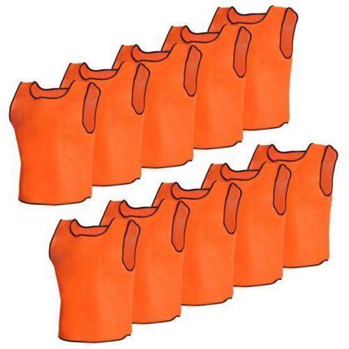 vidaXL 10 par bezrękawników sportowych Junior pomarańczowe (akcesoria sportowe dla dzieci)