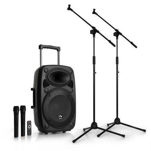 Auna Streetstar 12 mobilny zestaw nagłośnieniowy PA z dwoma mikrofonami i stojak