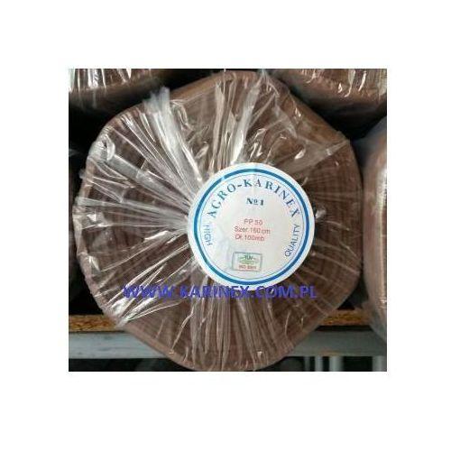 Agrowółknina ściółkujaca pp 50 g/m2 brązowa 1,6 x 100 mb. bez uv. rolka o wadze 8,6 kg. marki Agrokarinex