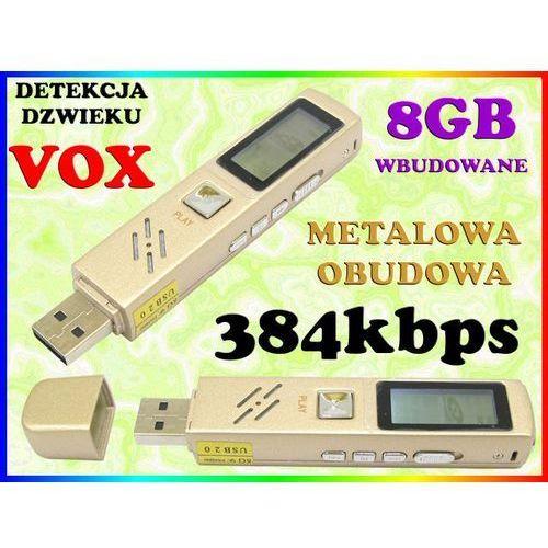 MINI DYKTAFON CYFROWY PODSŁUCH 384kbps LCD DETEKCJA DŹWIĘKU VOX PAMIĘĆ WBUDOWANA 8GB, Sklep Easy-WiFi
