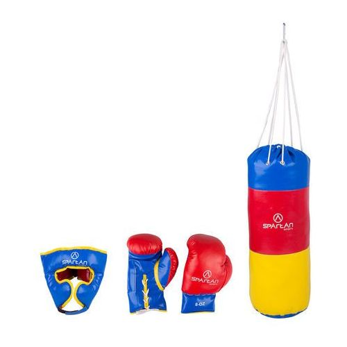 Zestaw bokserski worek 1 kg + ochraniacz głowy + rękawice marki Spartan