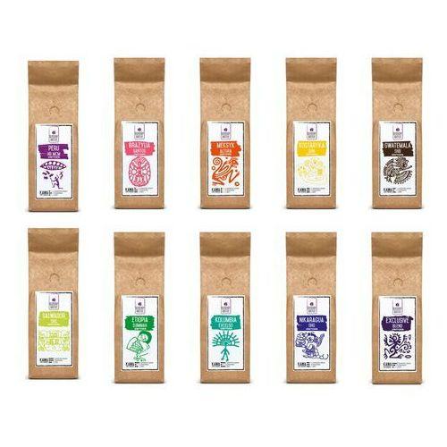 Zestaw powitalny – kawa ziarnista 10 x 100 g