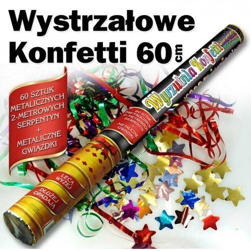 Dp Tuba strzelająca - serpentyny i gwiazdki metaliczne - 60 cm - 1 szt.