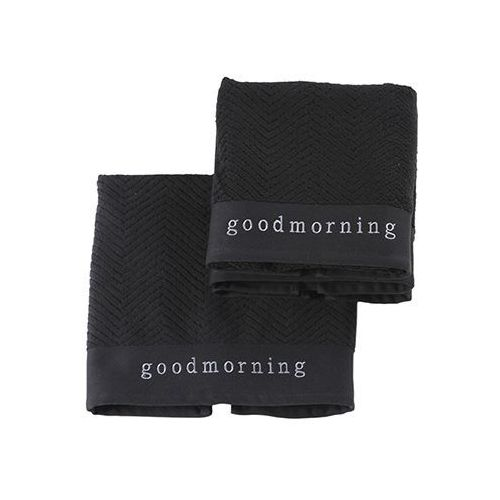 Ręcznik Aquanova Good Morning czarny 55x100 cm, GOOTWS-09