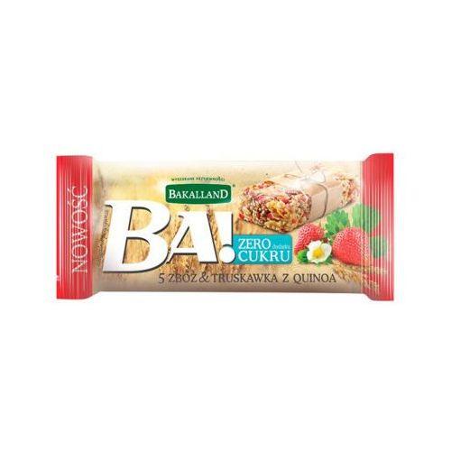 30g ba! baton zbożowy 5 zbóż truskawka i quinoa marki Bakalland