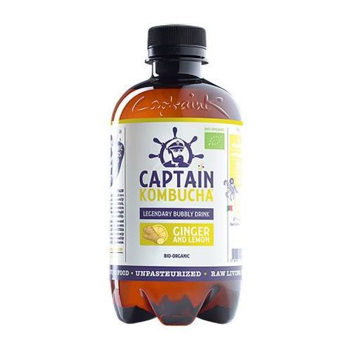 Napój Captain Kombucha Ginger and Lemon - imbir cytryna BIO 400ml
