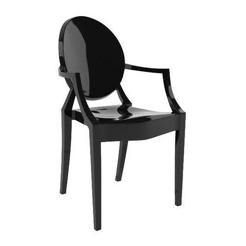 King home Krzesło plastikowe louis czarne - poliwęglan