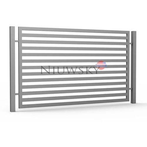 Przęsło ogrodzeniowe Horizontal 1,5m x 2,54m ocynkowana i lakierowane proszkowo kolor base ze sklepu Niuwsky