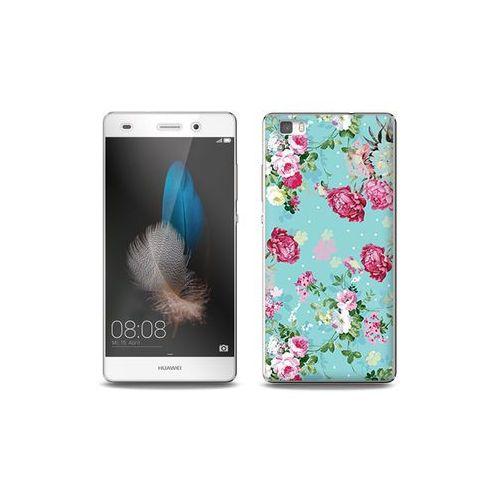 Huawei p8 lite - etui na telefon full body slim fantastic - różyczki na miętowym tle marki Etuo full body slim fantastic