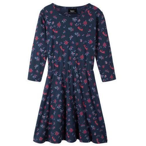 a149118eea Sukienka dziewczęca z rękawami 3 4 bonprix ciemnoniebieski