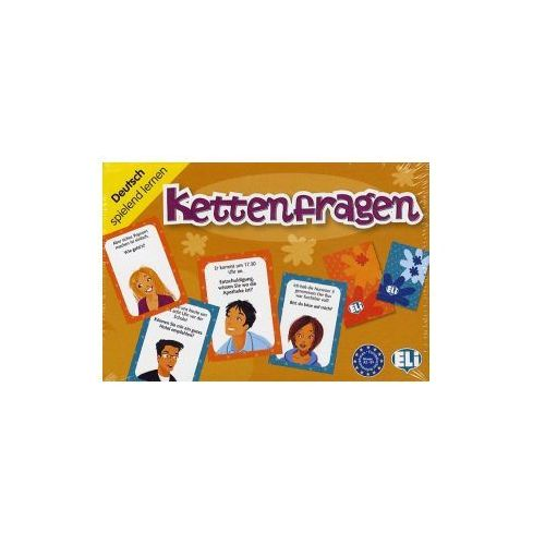 Gra językowa Niemiecki Kettenfragen. Opr. karton, ELI
