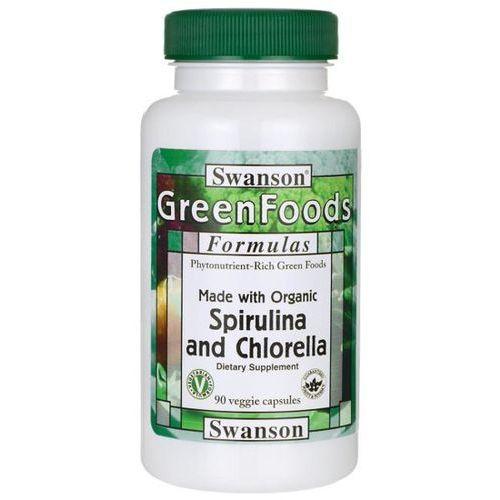 Swanson Spirulina & Chlorella Organiczna - (90 kap) (0087614060781)