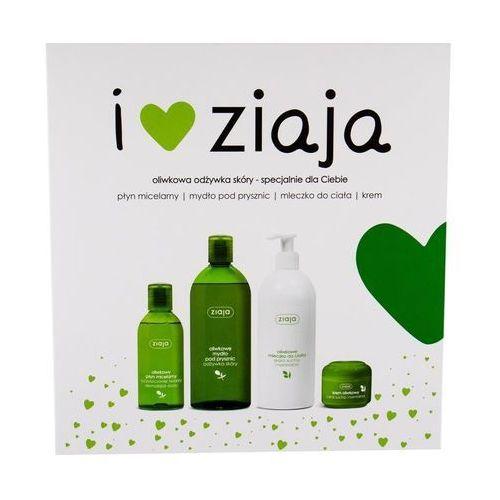 Ziaja Zestaw natural olive żel pod prysznic dla kobiet 500ml + mleczko do ciała 400ml + krem na dzień 50ml + woda micelarna 200ml (5901887046431)