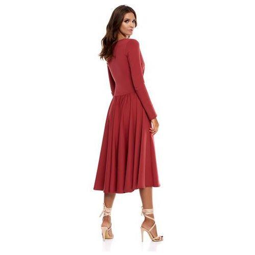 Sukienka Cosenza w kolorze marsala