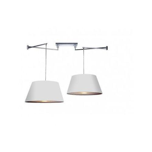 Azzardo natalia 2 s md2238-2s-wh lampa wisząca zwis 2x60w e27 biała + żarówka led za 1 zł gratis!