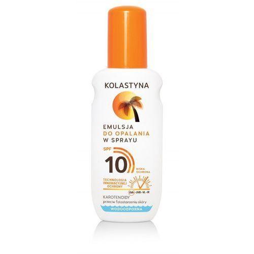 Sarantis Kolastyna opalanie emulsja do opalania spf10 - spray 150ml (5900536315843)