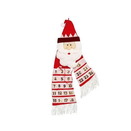 Kalendarz adwentowy z Mikołajem