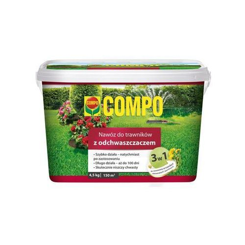 Compo Nawóz do trawnika 4.5 kg 3w1 z odchwaszczaczem (4008398631550)