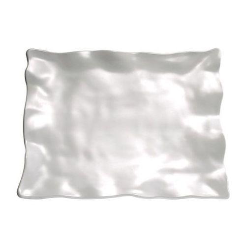 Półmisek prostokątny z melaminy 385x295x50 mm, biały | APS, Global Buffet