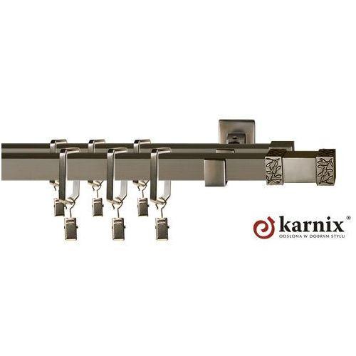 Karnisz Kwadratowy Moderno podwójny 20x20/20x20mm Verona antracyt - produkt z kategorii- karnisze