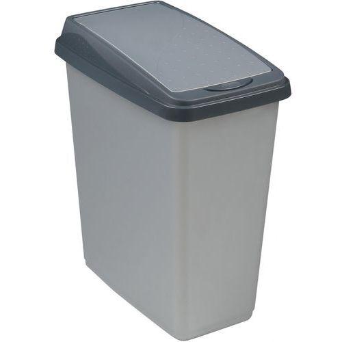 Florentyna Kosz na śmieci slim bin 25l srebrny -kpr 0601