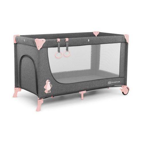 Kinderkraft łóżeczko turystyczne joy pink - kkljoypnk00000