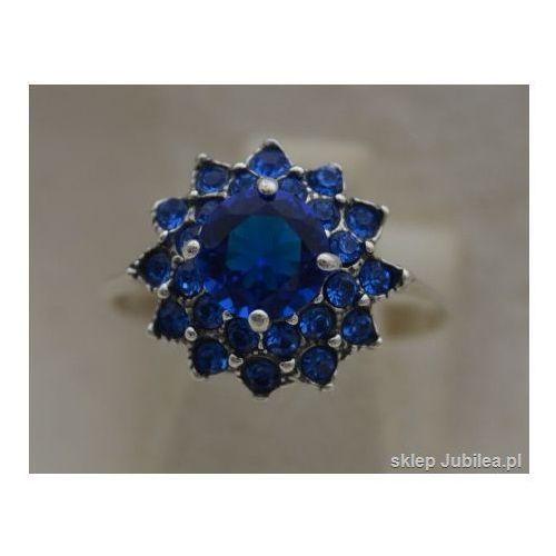 BODO - srebrny pierścionek z szafirami