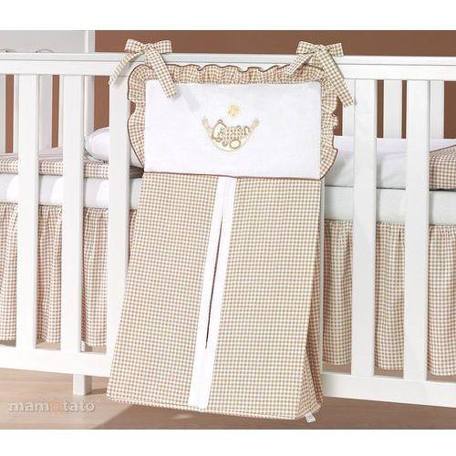 Mamo-tato torba na pampersy śpioch w hamaku brąz z białym
