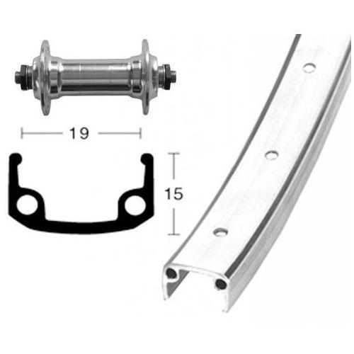 koło przednie 28x1.3/8 piasta aluminiowa 36l, silver 2019 piasty miejskie i trekkingowe marki Bike-parts
