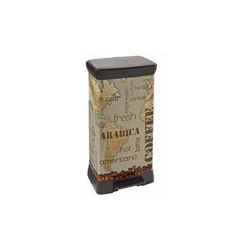 Kosz na odpady Deco Bin z pedałem 50 l Coffee - oferta [05dde90271029672]