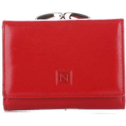 Poręczny portfel damski skórzany czerwony marki Nicole