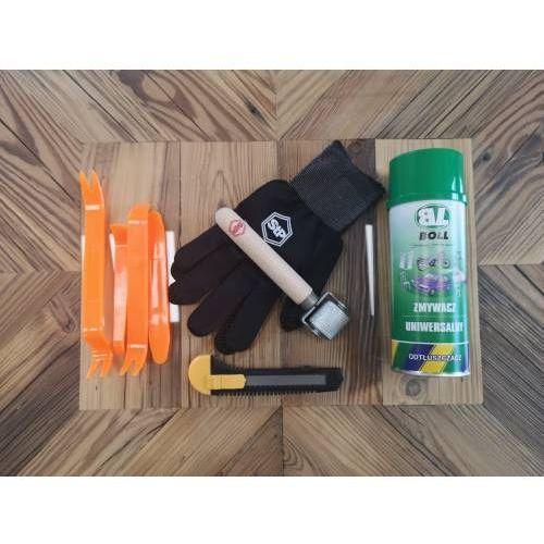 Zestaw akcesoriów do montażu mat butylowych i pianek marki Stp