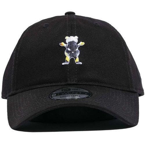 czapka z daszkiem GRIZZLY - Grizzly X Ghost Rider Dad Hat Black (BLACK), kolor czarny