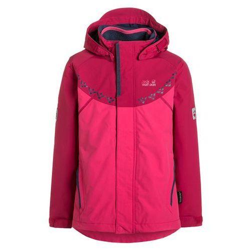 Jack Wolfskin POLAR WOLF 3IN1 Kurtka hardshell pink raspberry z kategorii kurtki dla dzieci
