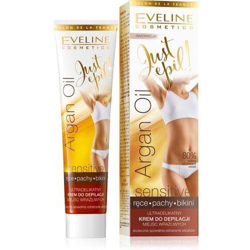 Eveline just epil argan oil krem do depilacji miejsc wrażliwych (ręce,bikini,pachy) 125ml - eveline od 24,99zł darmowa dostawa kiosk ruchu