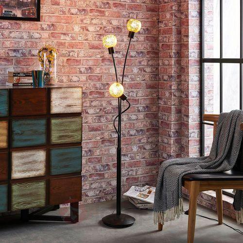 3-punktowa lampa stojąca Julien, szkło, folia (4251096532517)