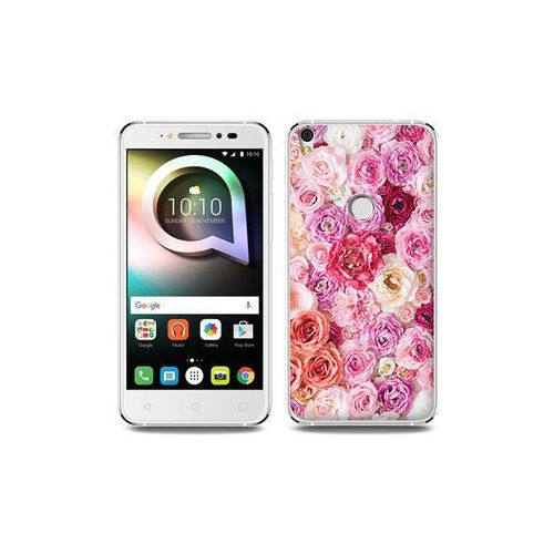 Alcatel Shine Lite - etui na telefon Foto Case - jasne róże