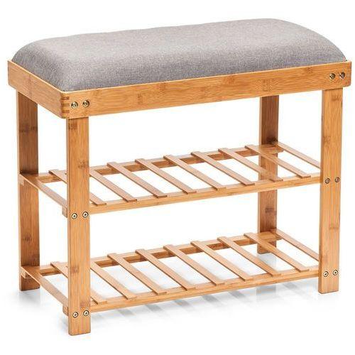 Zeller Bambusowa szafka na buty z siedziskiem, siedzisko do przedpokoju, stojak na buty, regał na buty, ławka na buty, meble bambusowe,