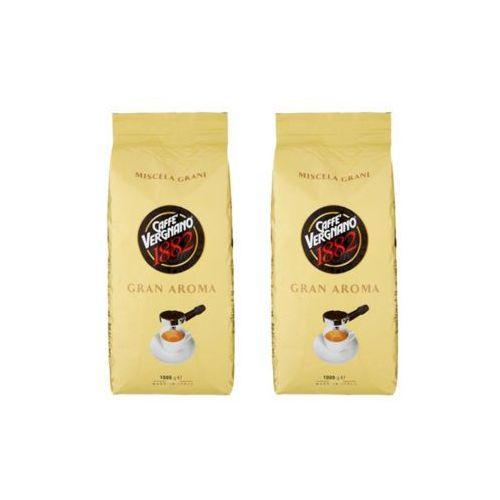 Zestaw 2x gran aroma włoska kawa ziarnista import 1kg marki Caffe vergnano