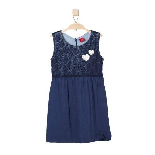 s.Oliver sukienka dziewczęca 128 niebieski (sukienka dziecięca)