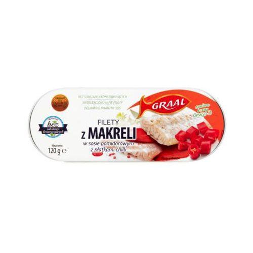 GRAAL 120g Filety z makreli w sosie pomidorowym z płatkami chilli