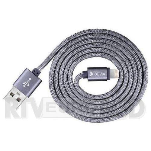 Kabel  certyfikowany mfi 2m do iphone lightning grey wyprodukowany przez Devia