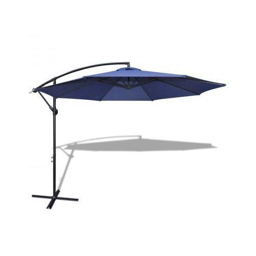 Parasol przeciwsłoneczny okrągły 3,5 m, niebieski+aluminiowy stelaż - produkt z kategorii- parasole ogrodowe